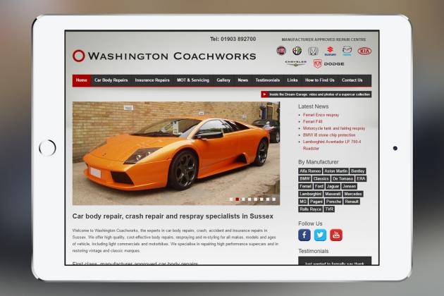 Washington Coachworks: Web Design & SEO Case Study