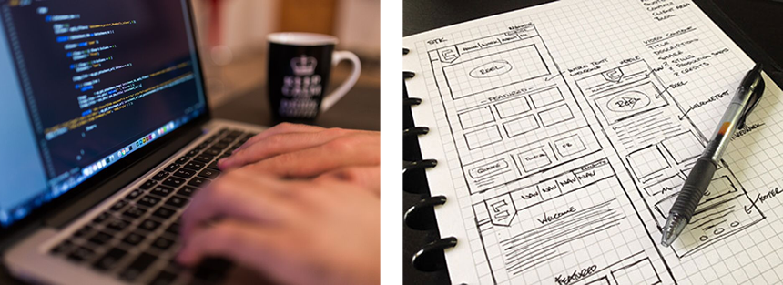 website-coding-design-wireframes